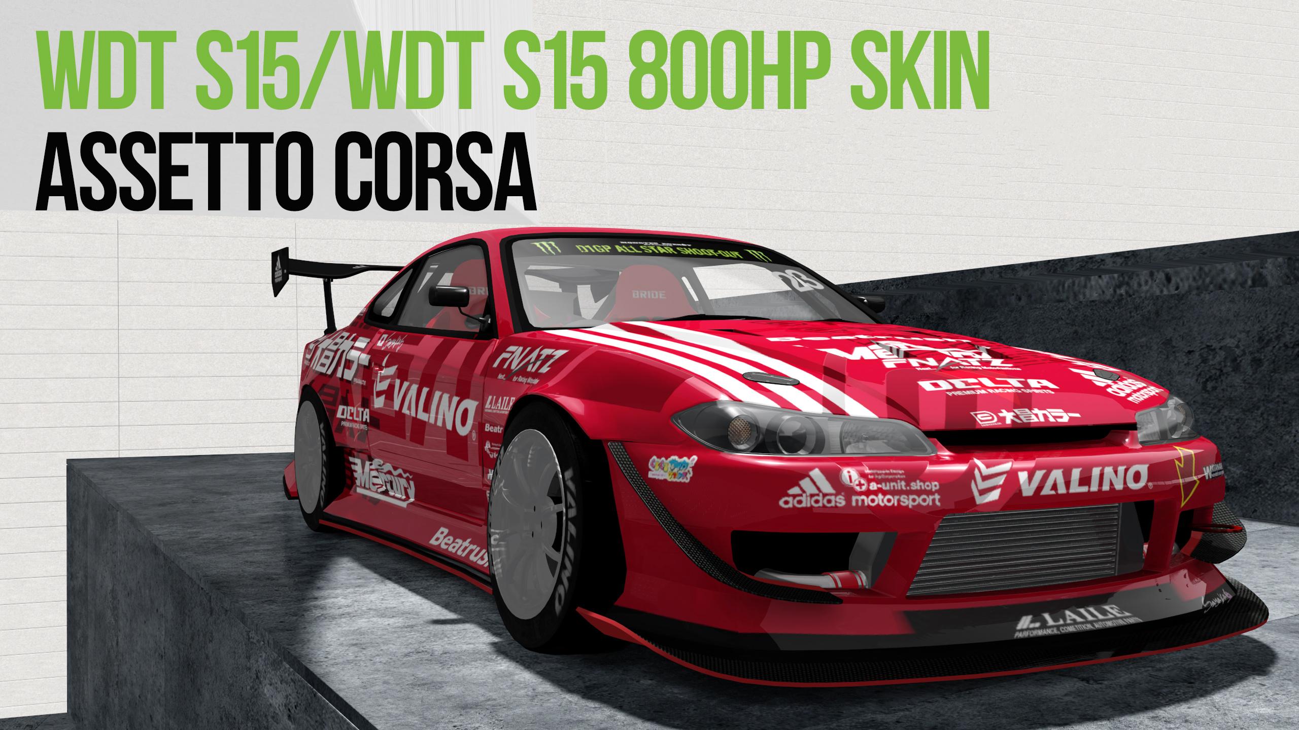 Assetto Corsa WDT S15 / WDT S15 800HP MOD用 Skin - 大昌カラー Mercury サヤカSPL
